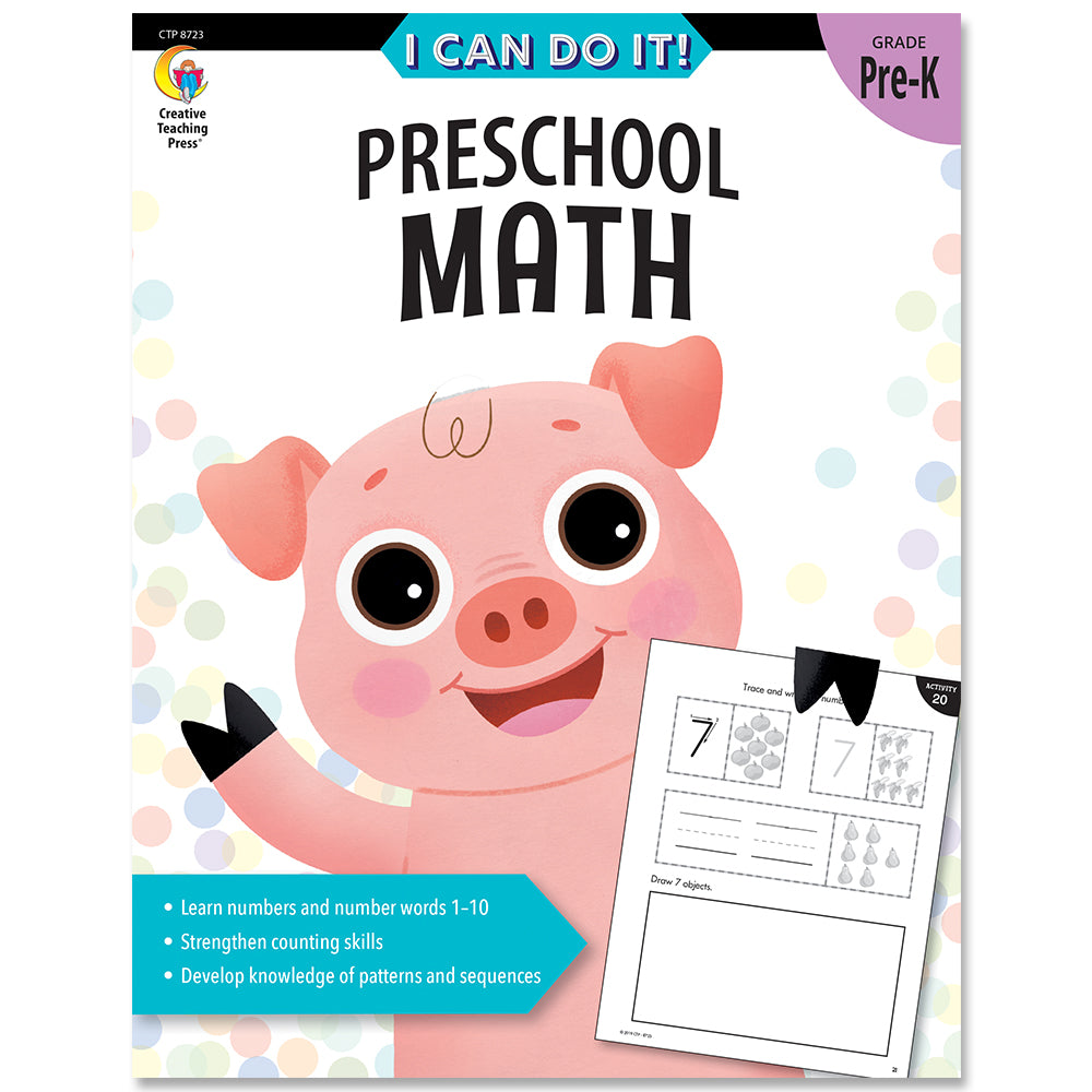 I Can Do It! Preschool Math eBook