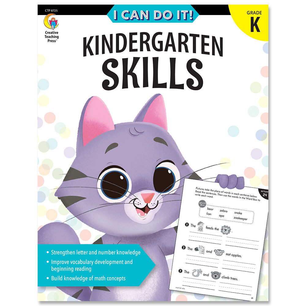 I Can Do It! Kindergarten Skills eBook