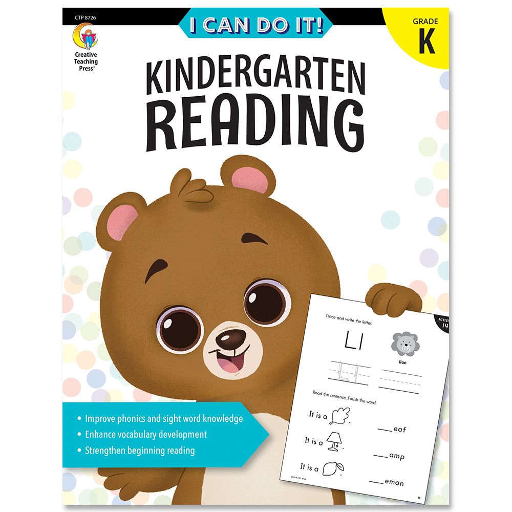 I Can Do It! Kindergarten Reading eBook