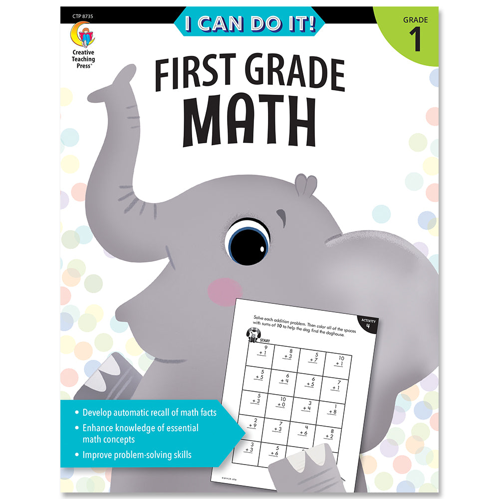 I Can Do It! First Grade Math eBook