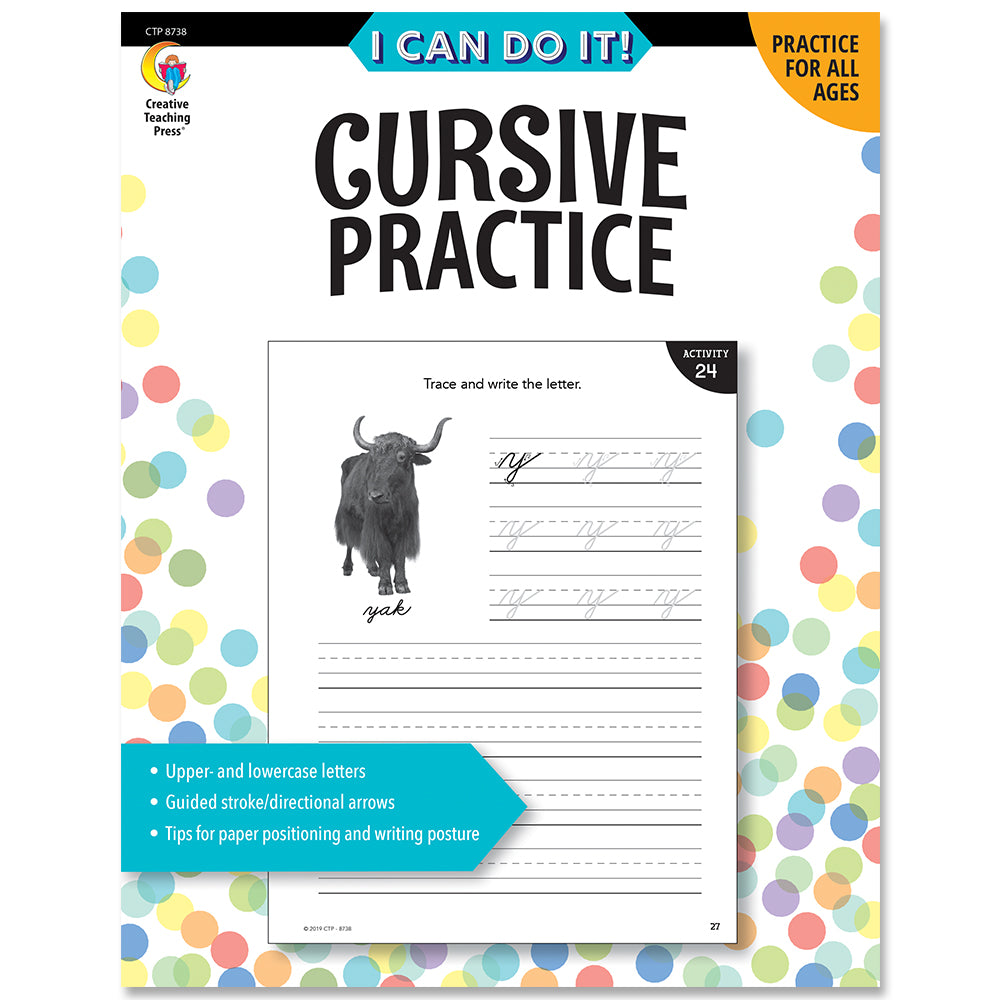 I Can Do It! Cursive Practice eBook