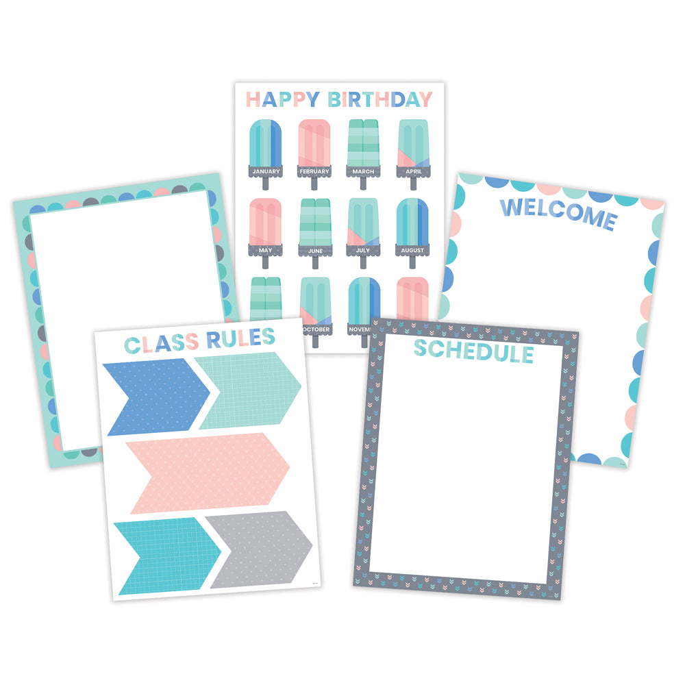 Calm & Cool Classroom Essentials 5-Chart Pack