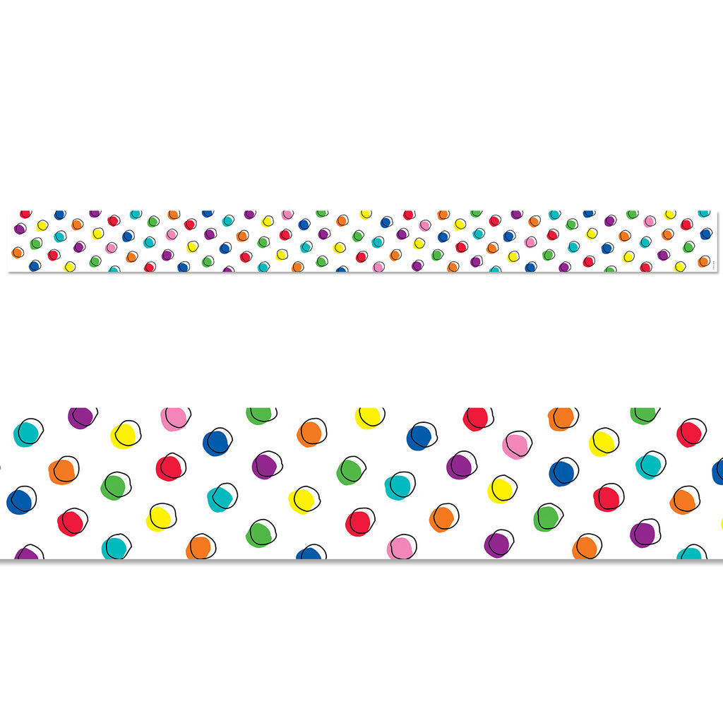 Doodle Dots on White Border