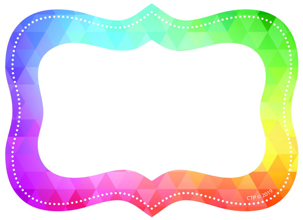 Rainbow Mosaic Labels