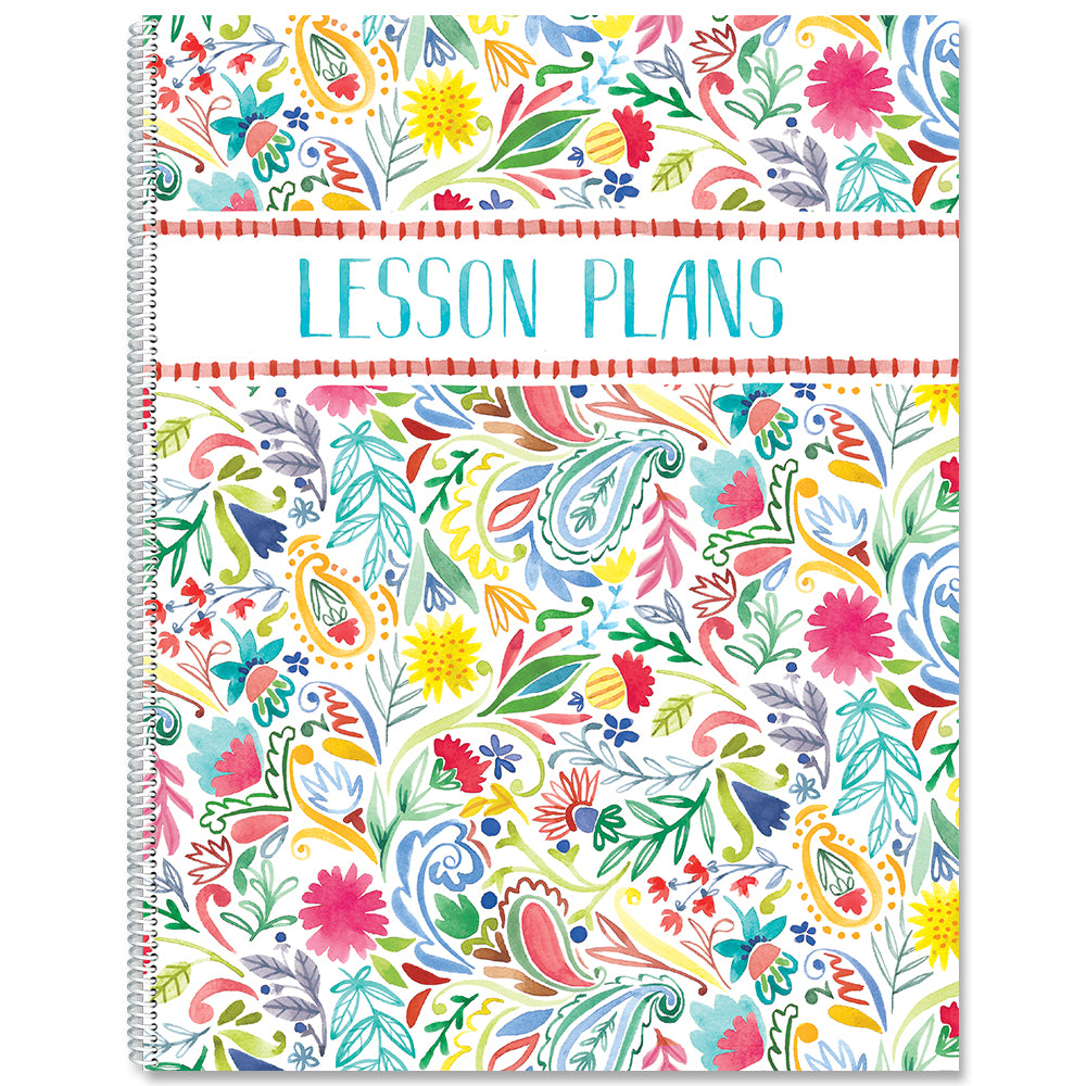 Festive Floral Lesson Plan Book