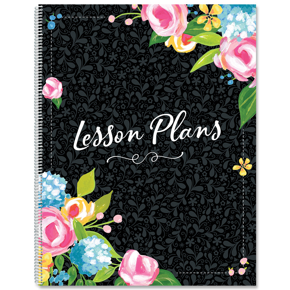 Fancy Floral Lesson Plan Book