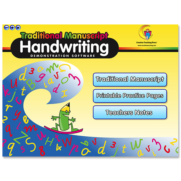 Handwriting Traditional Manuscript Interactive Learning