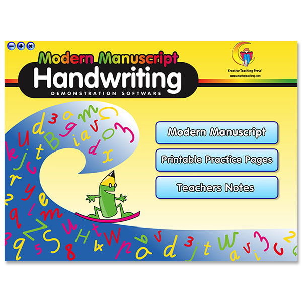 Handwriting Modern Manuscript Interactive Learning