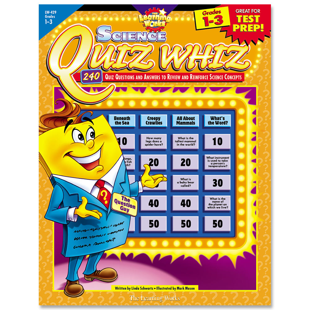 Science Quiz Whiz, Gr. 1-3, eBook
