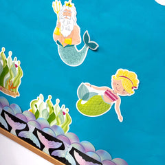 Mystical Magical Mermaid Tails Border