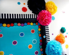 Pom-Poms 6 inch Designer Cut-Outs