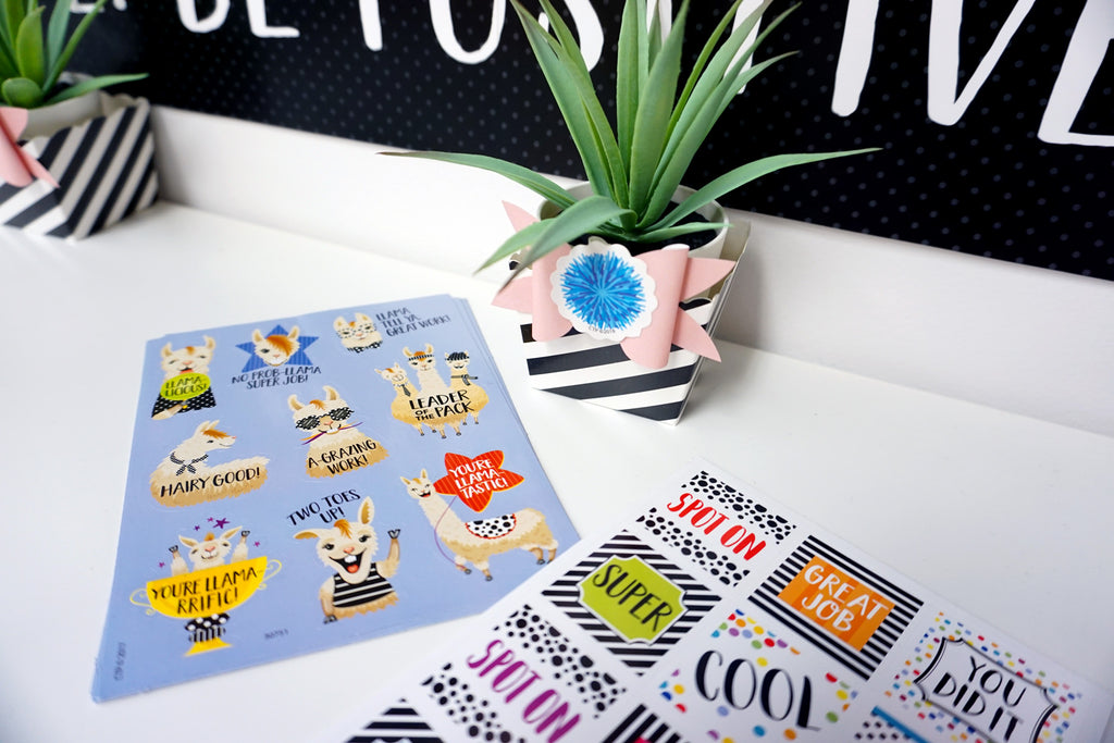 Bold & Bright Llama Rewards Stickers