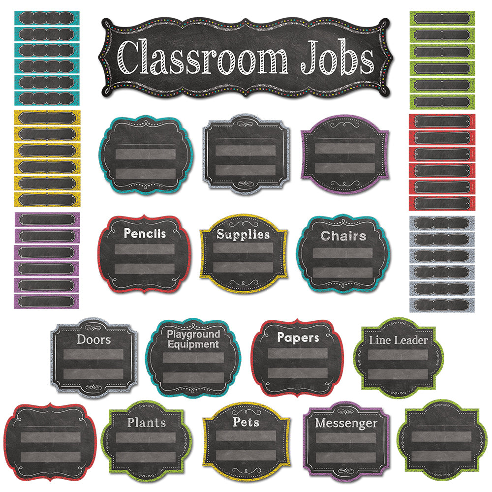 Chalk It Up! Classroom Jobs Mini Bulletin Board