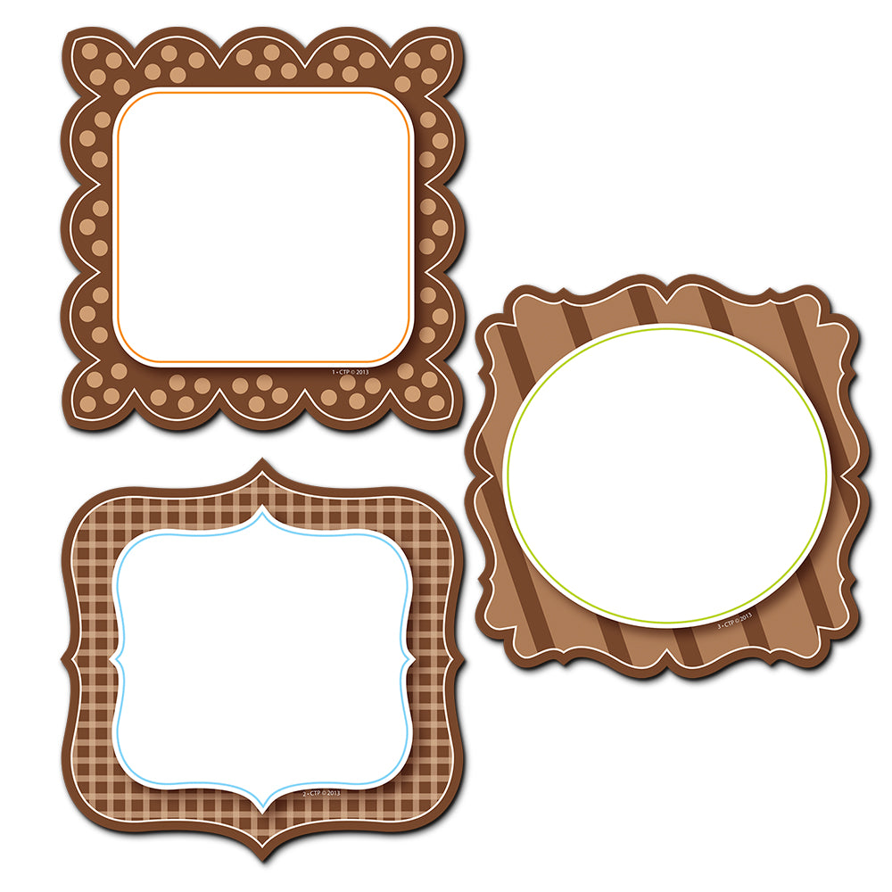 "Chocolate Classy Cards 6"" Designer Cut-Outs"
