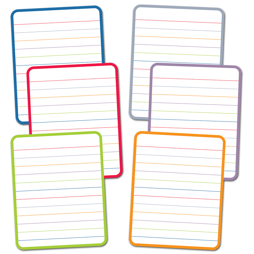 "Rainbow Notebook Paper 6"" Designer Cut-Outs"