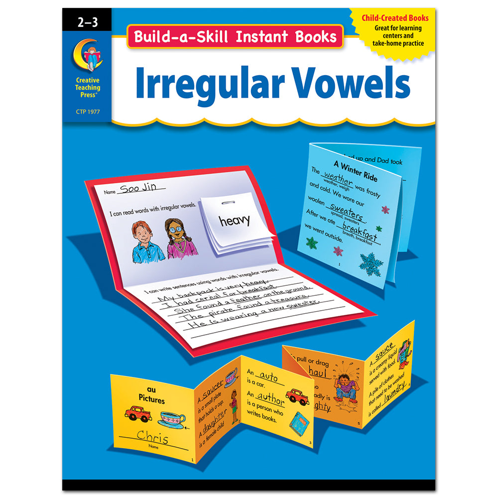 Build-a-Skill Instant Books: Irregular Vowels. Gr. 2–3