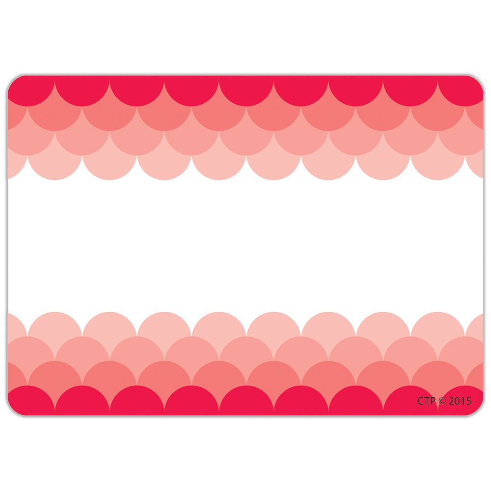 Painted Palette Ombre Poppy Red Scallops Labels