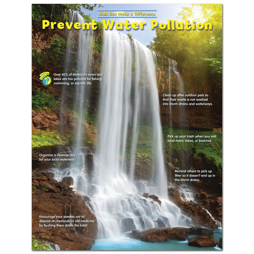 Prevent Water Pollution – Kids Can Make a Difference Environmental Chart