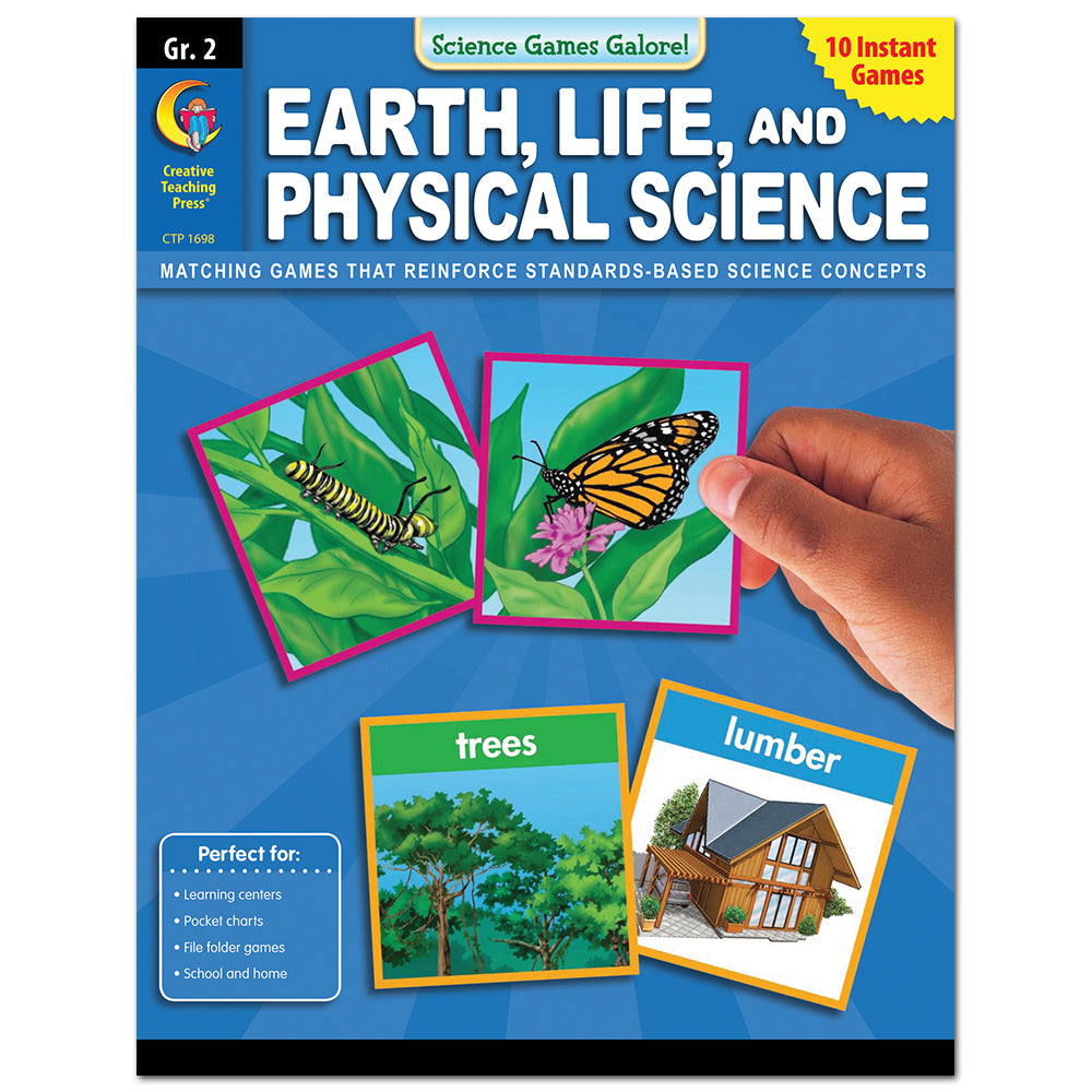 Science Games Galore! – Earth, Life, and Physical Science, Grade 2
