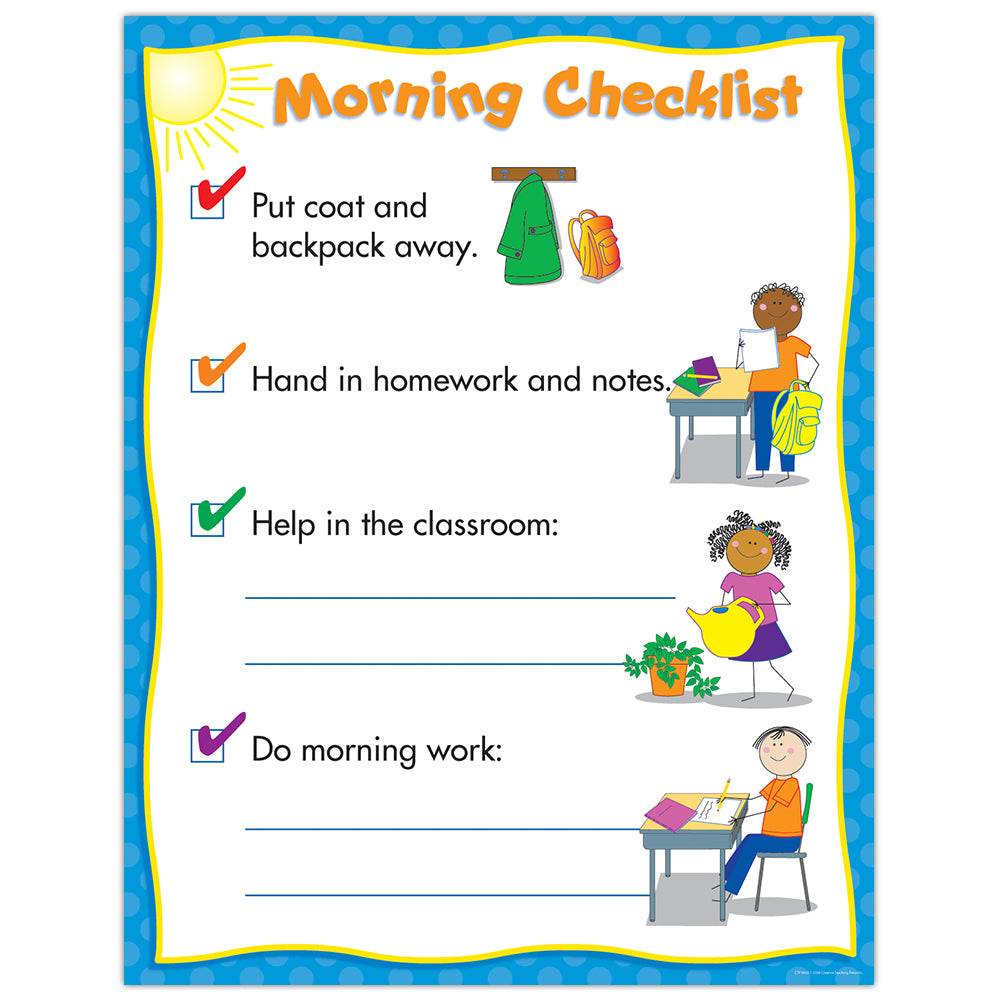 Morning Routine — Classroom Management Chart