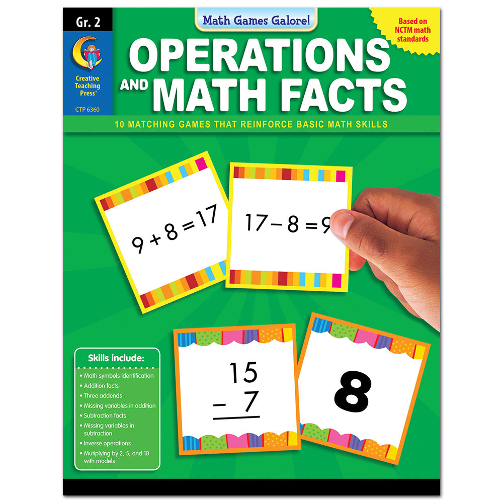Math Games Galore: Operations and Math Facts, Gr. 2