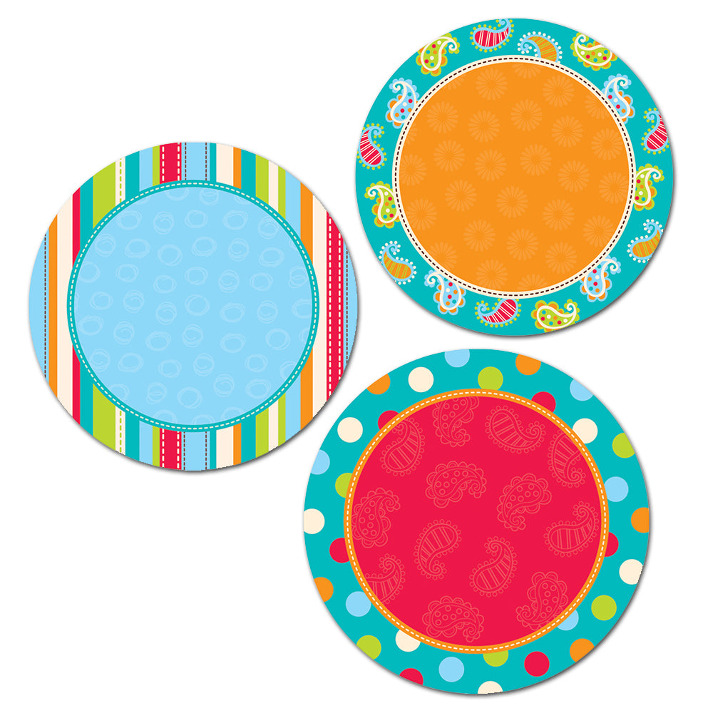 "Dots on Turquoise Dots 6"" Designer Cut-Outs"