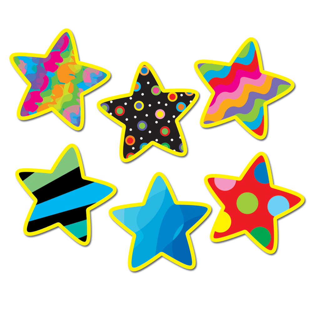 "Poppin' Patterns Stars 1"" Mini Designer Cut-Outs"