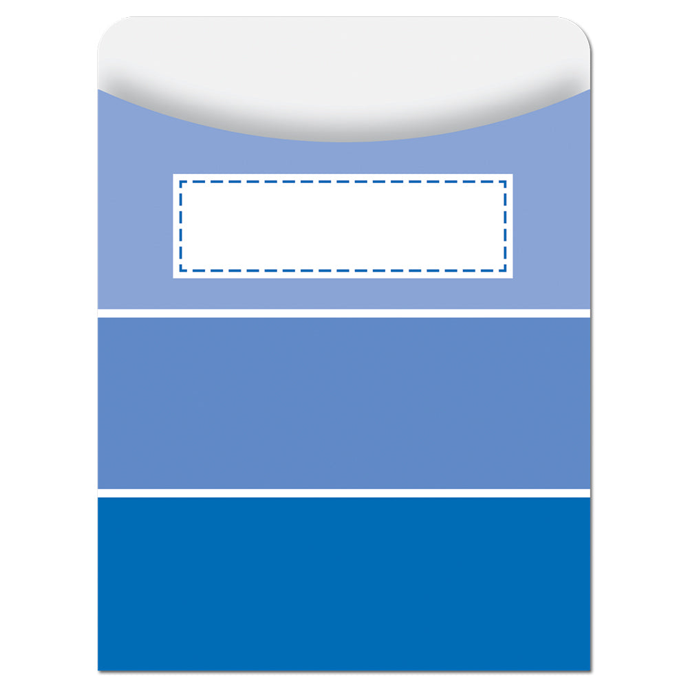 Painted Palette Blue Paint Chip Library Pockets - Standard