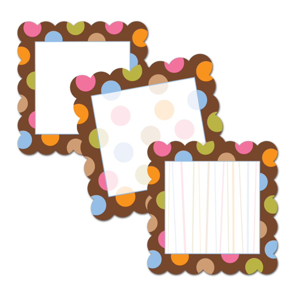 "Dots on Chocolate Cards 6"" Designer Cut-Outs"