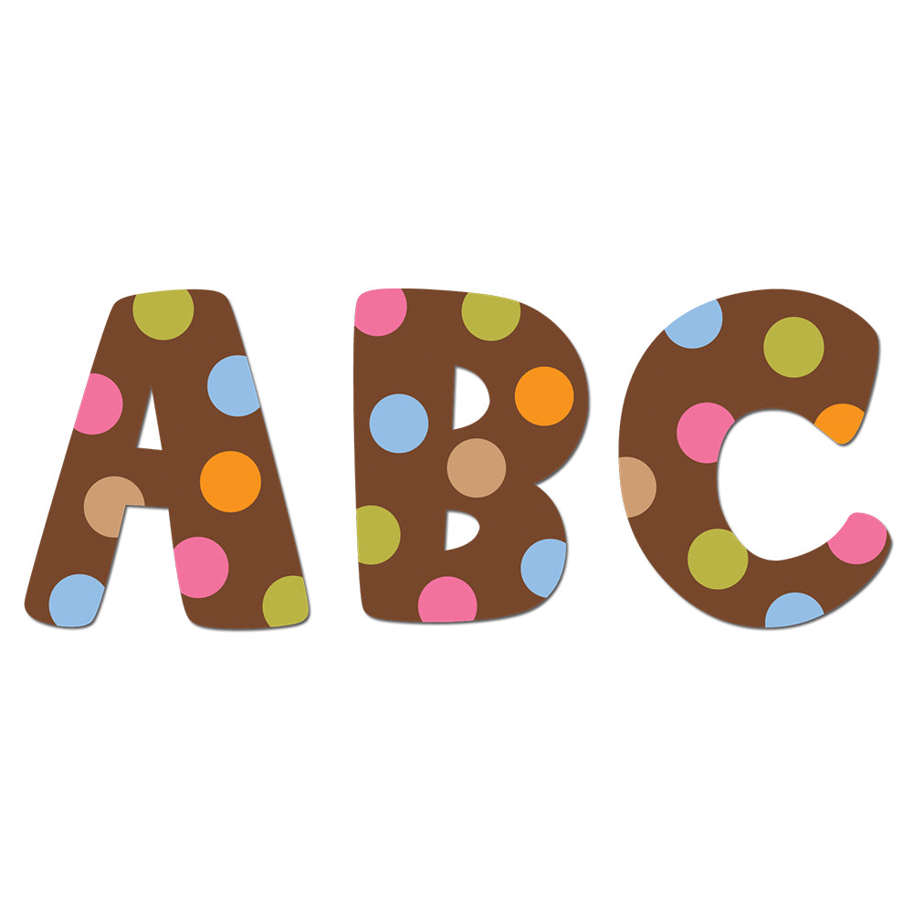 "Dots on Chocolate 2"" Uppercase Letter Stickers"