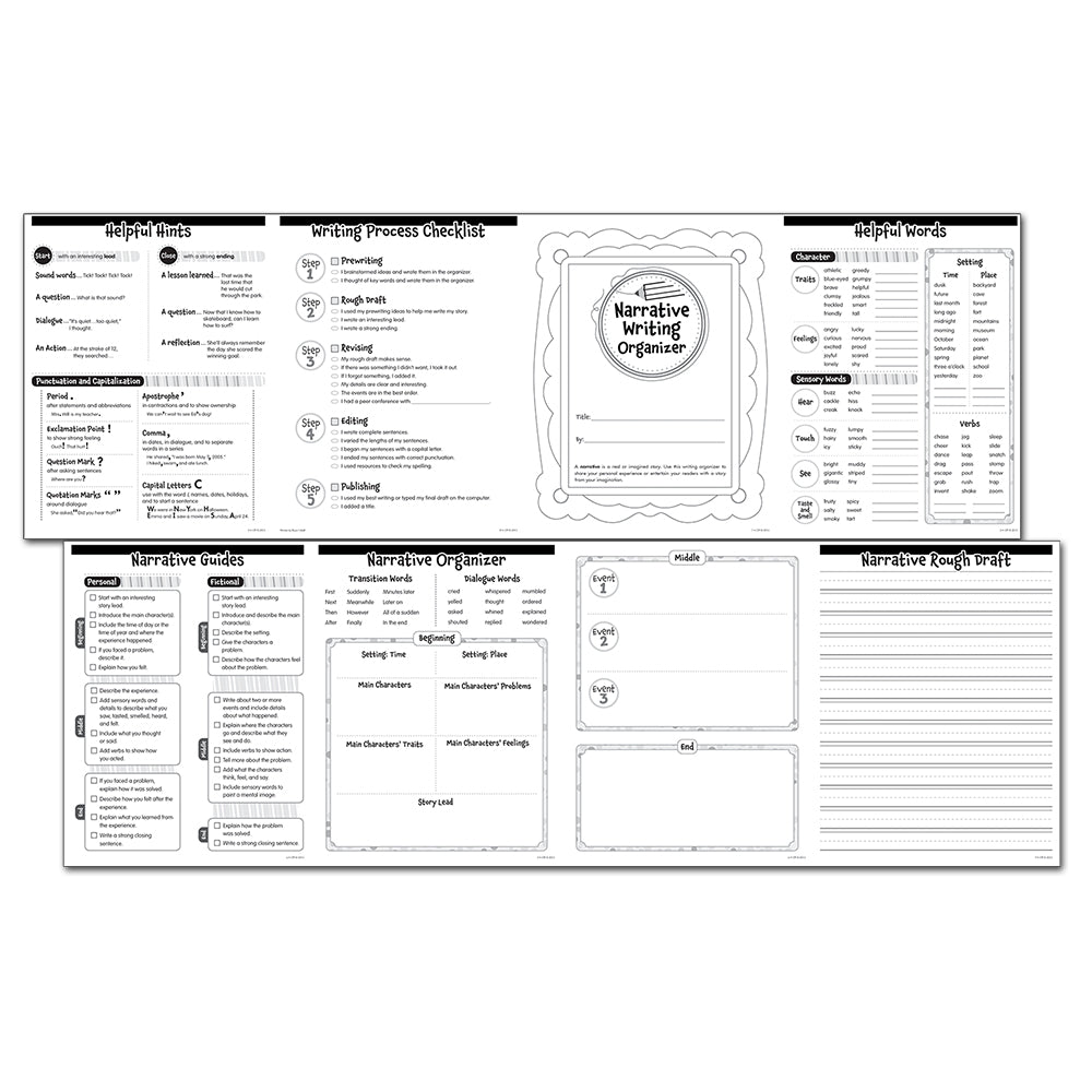 Narrative Writing Organizer Fold-Out, Grades 2-3