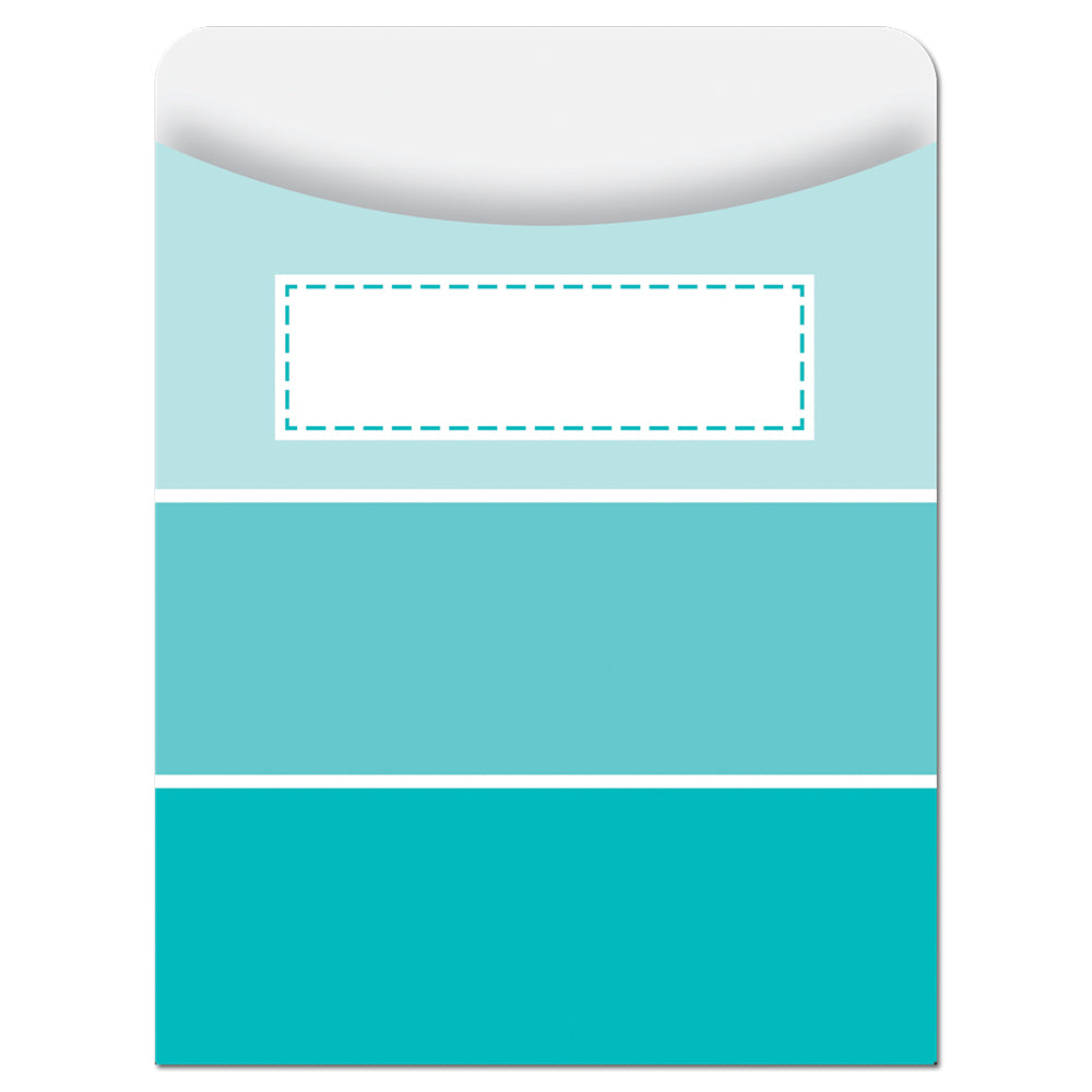 Painted Palette Turquoise Paint Chip Library Pockets - Standard