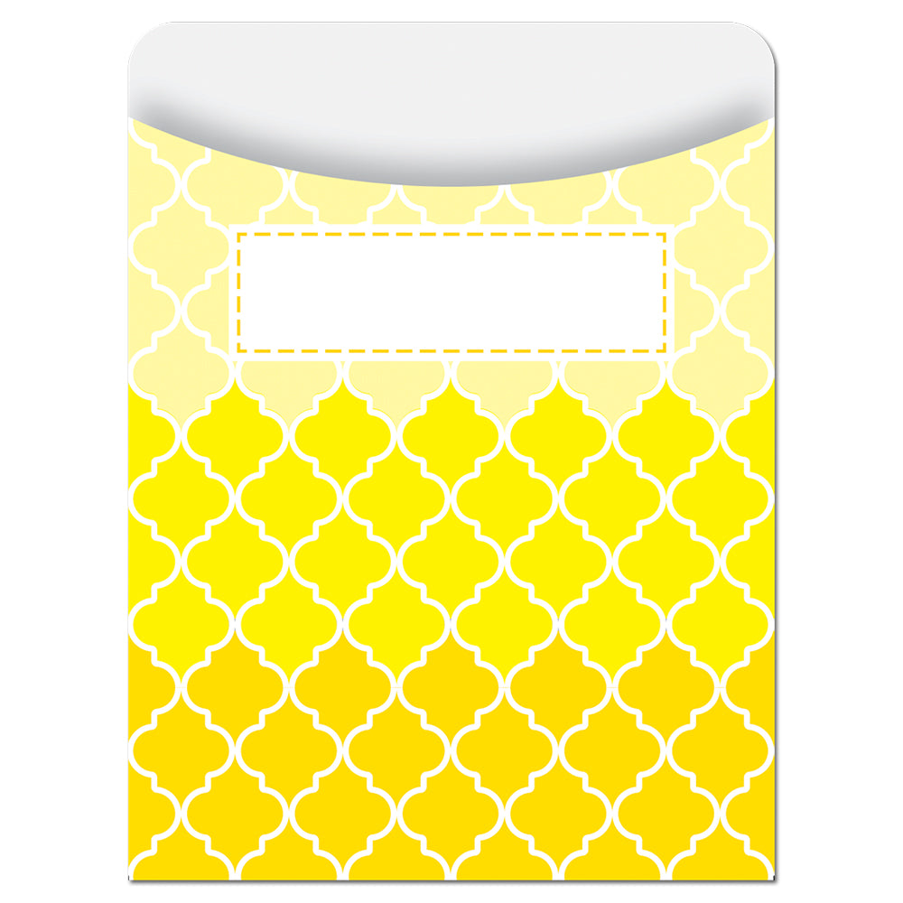 Painted Palette Ombre Yellow Moroccan Library Pockets - Standard
