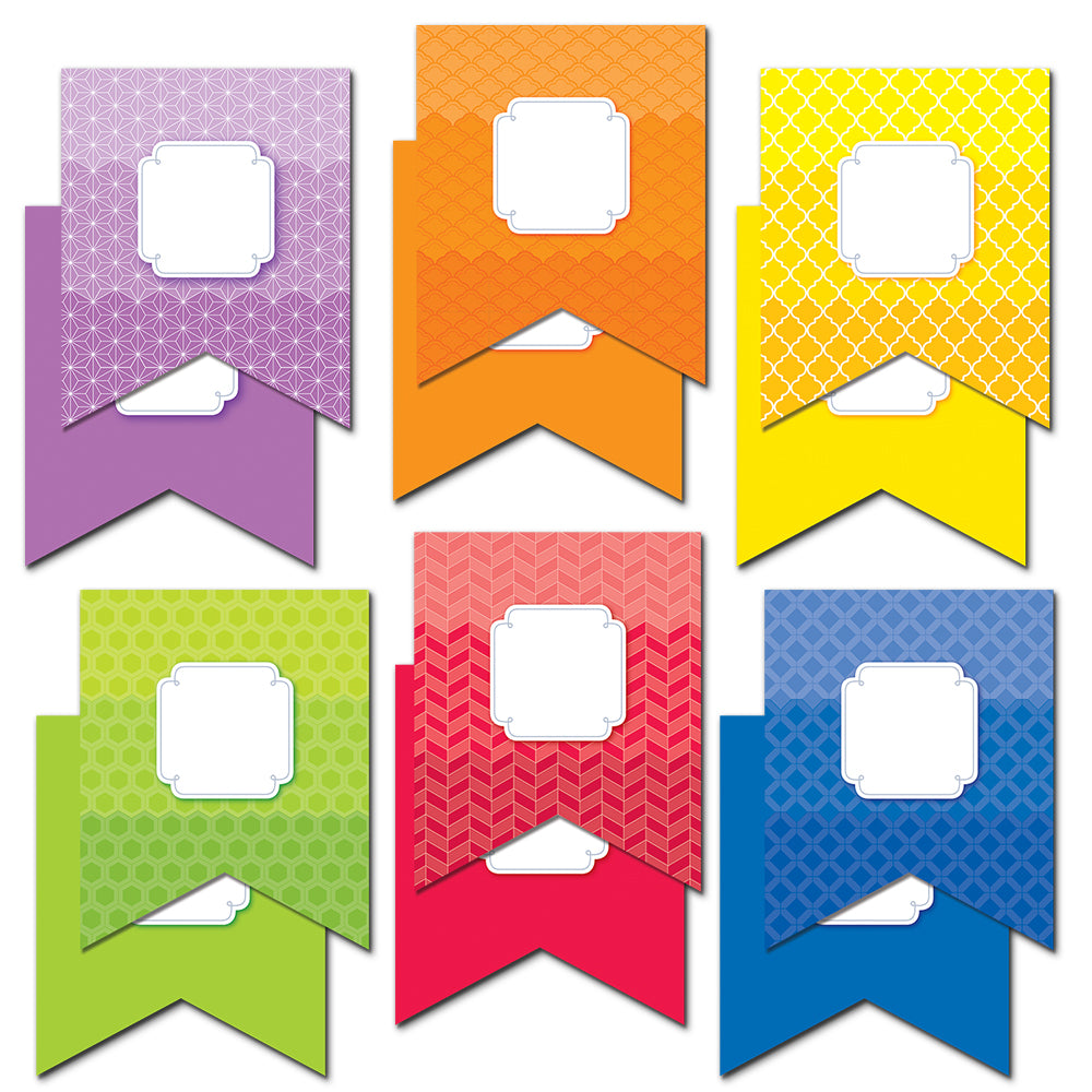 "Painted Palette Pennants 6"" Designer Cut-Outs"