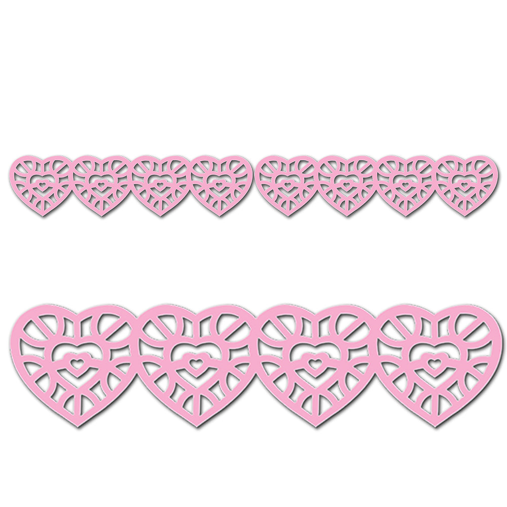 Hearts Jumbo Stencil-Cut Borders