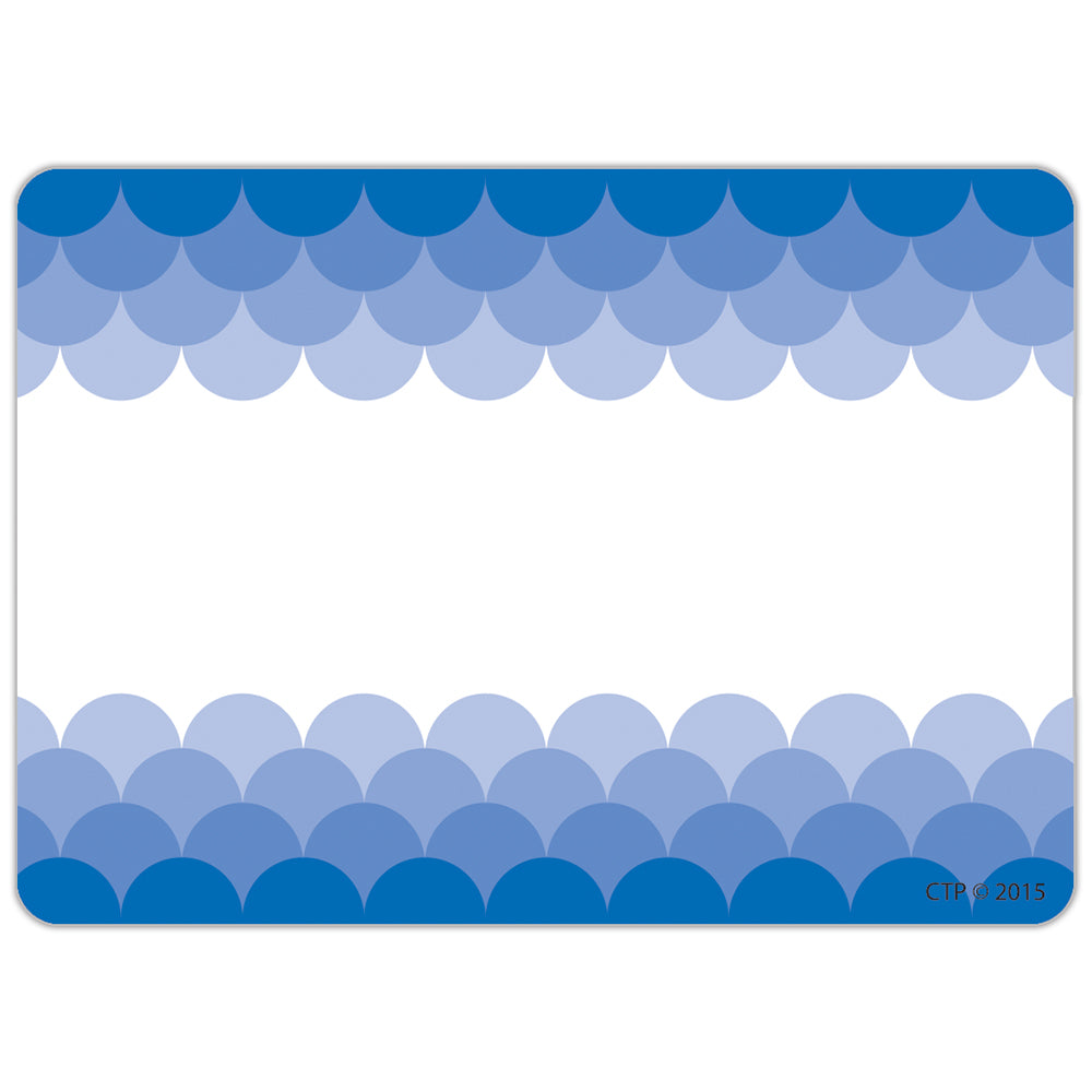 Painted Palette Ombre Blue Scallops Labels