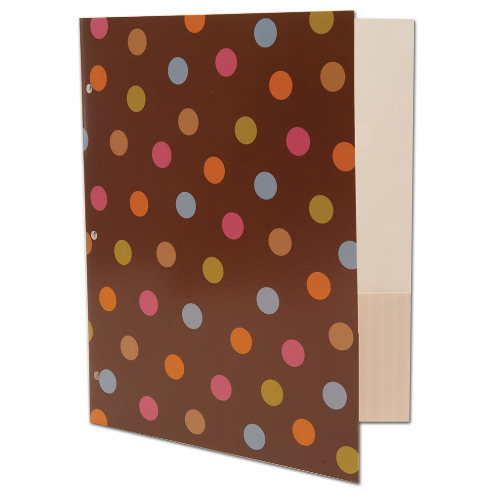 Dots on Chocolate 2-Pocket Folder