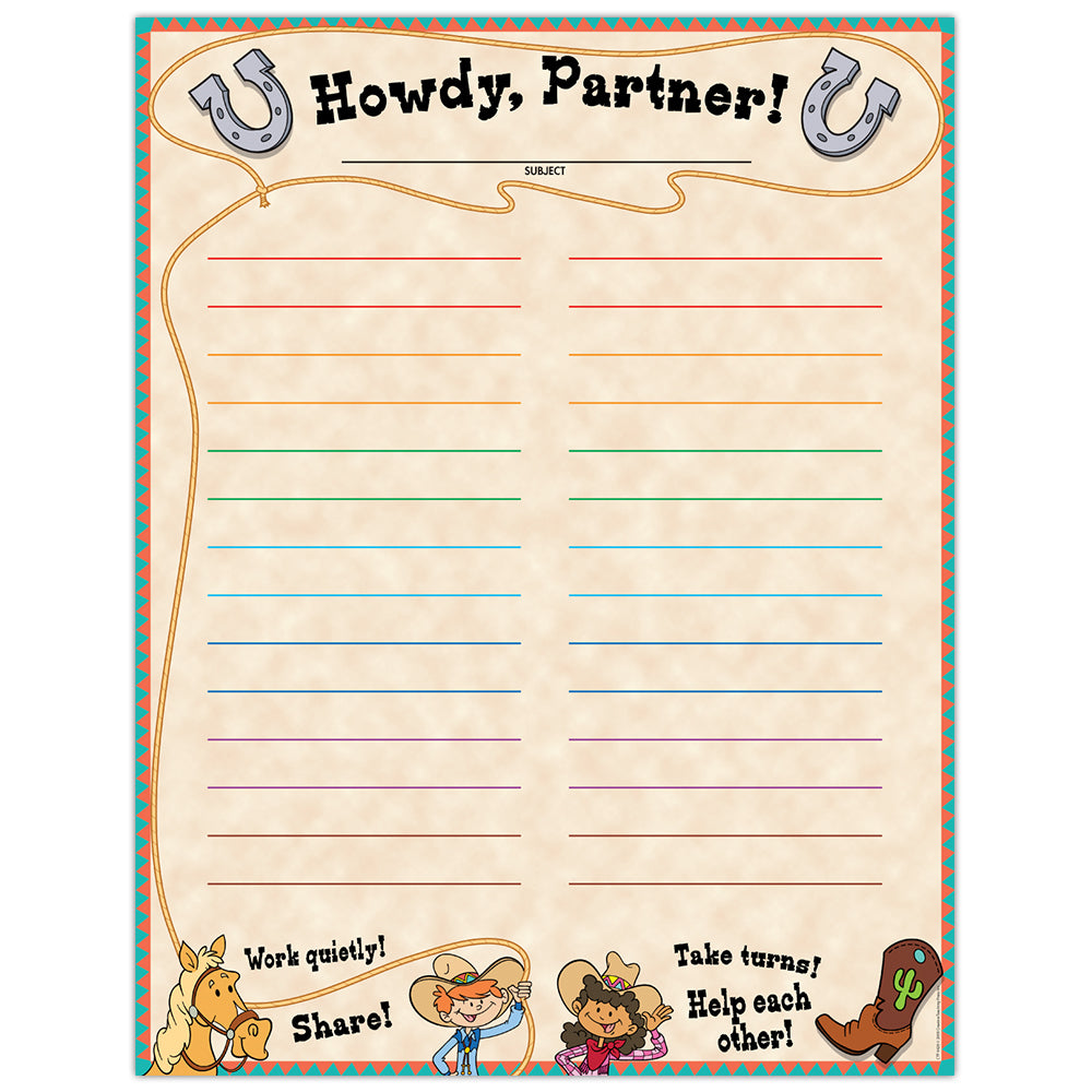 Howdy Partners — Classroom Management Chart