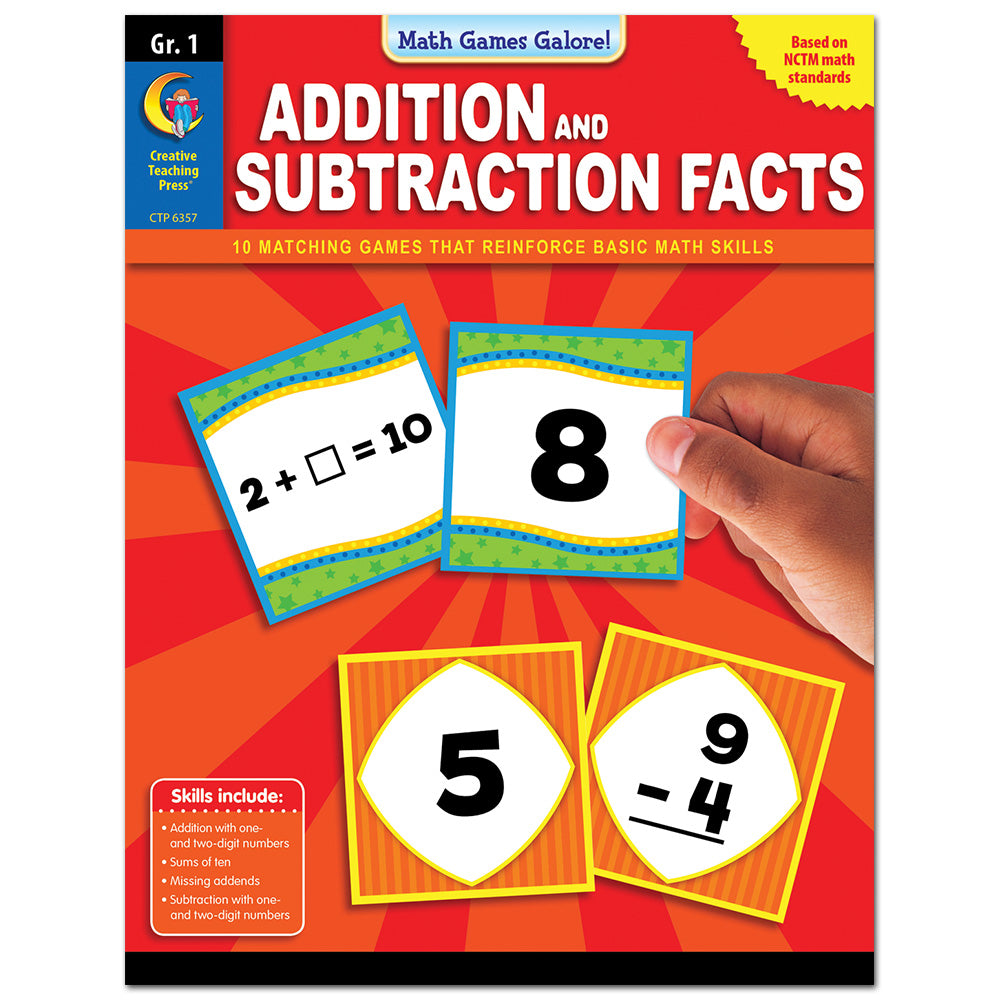 Math Games Galore: Addition and Subtraction Facts, Gr. 1