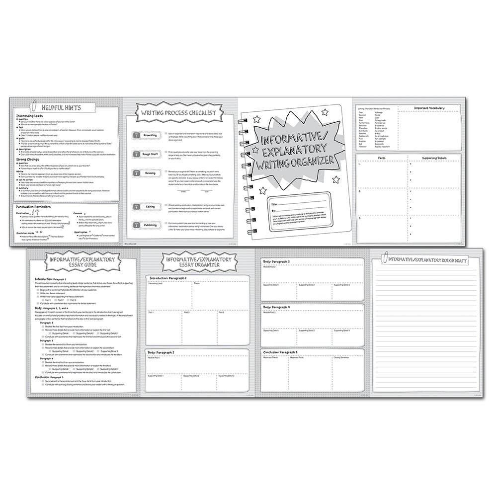 Informative/ Explanatory Writing Organizer Fold-Out, Grades 4-5