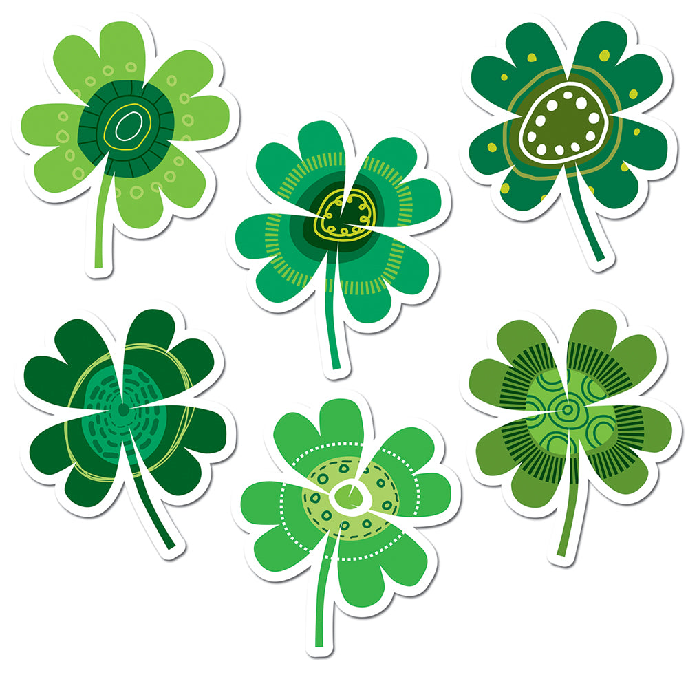 "Shamrocks 6"" Designer Cut-Outs"