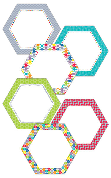 "HexaFun Hexagons 10"" Jumbo Designer Cut-Outs"