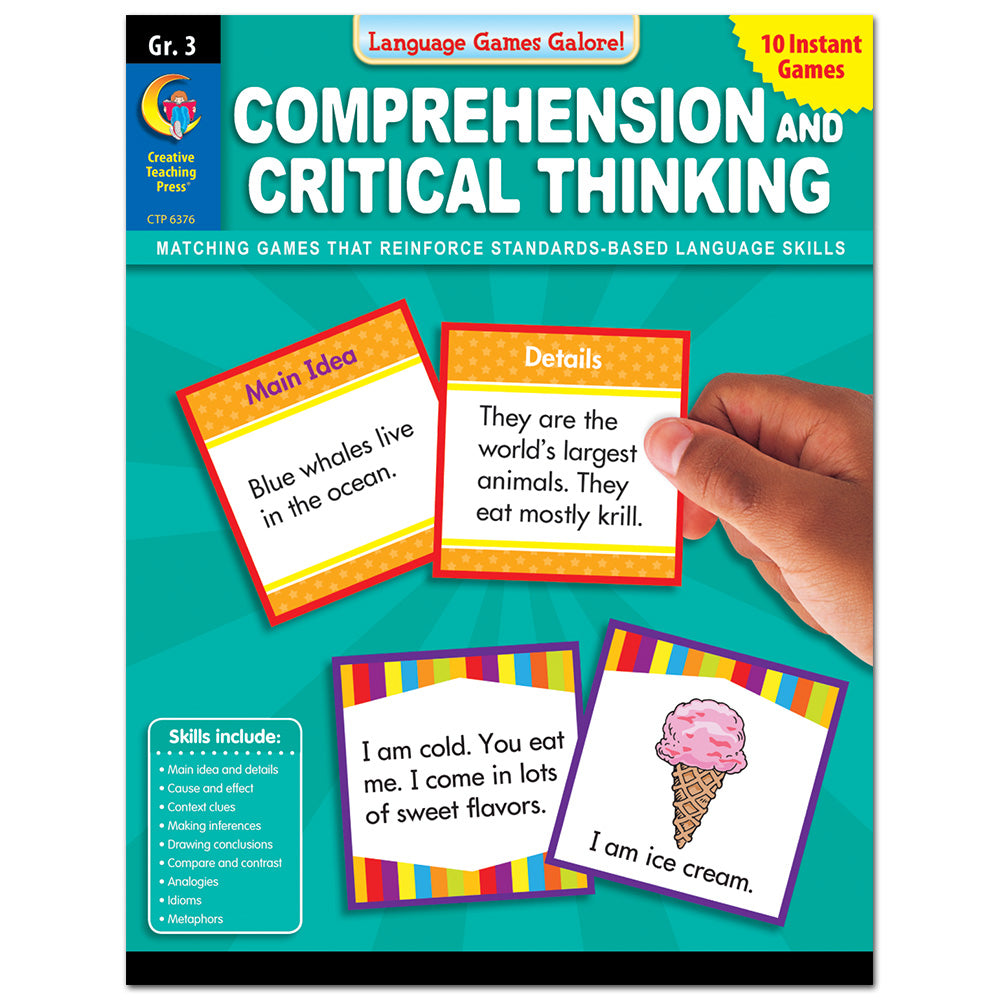 Language Games Galore: Comprehension and Critical Thinking, Gr. 3