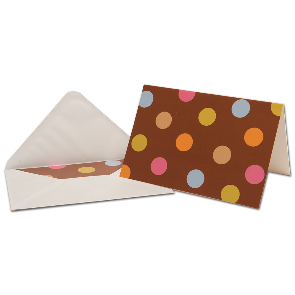 Dots on Chocolate Boxed Note Cards