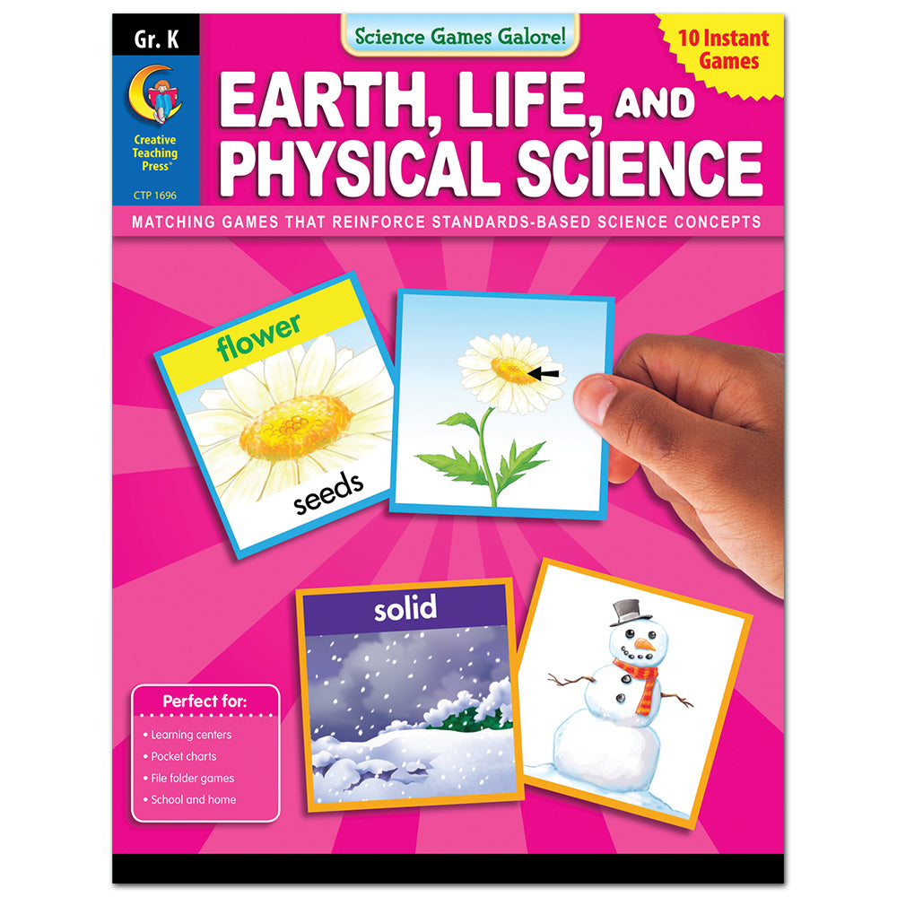 Science Games Galore! – Earth, Life, and Physical Science, Grade K