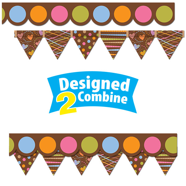 Dots on Chocolate Perfect Pairs Border Set
