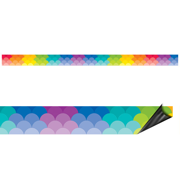 Rainbow Scallops Magnetic Décor Strips