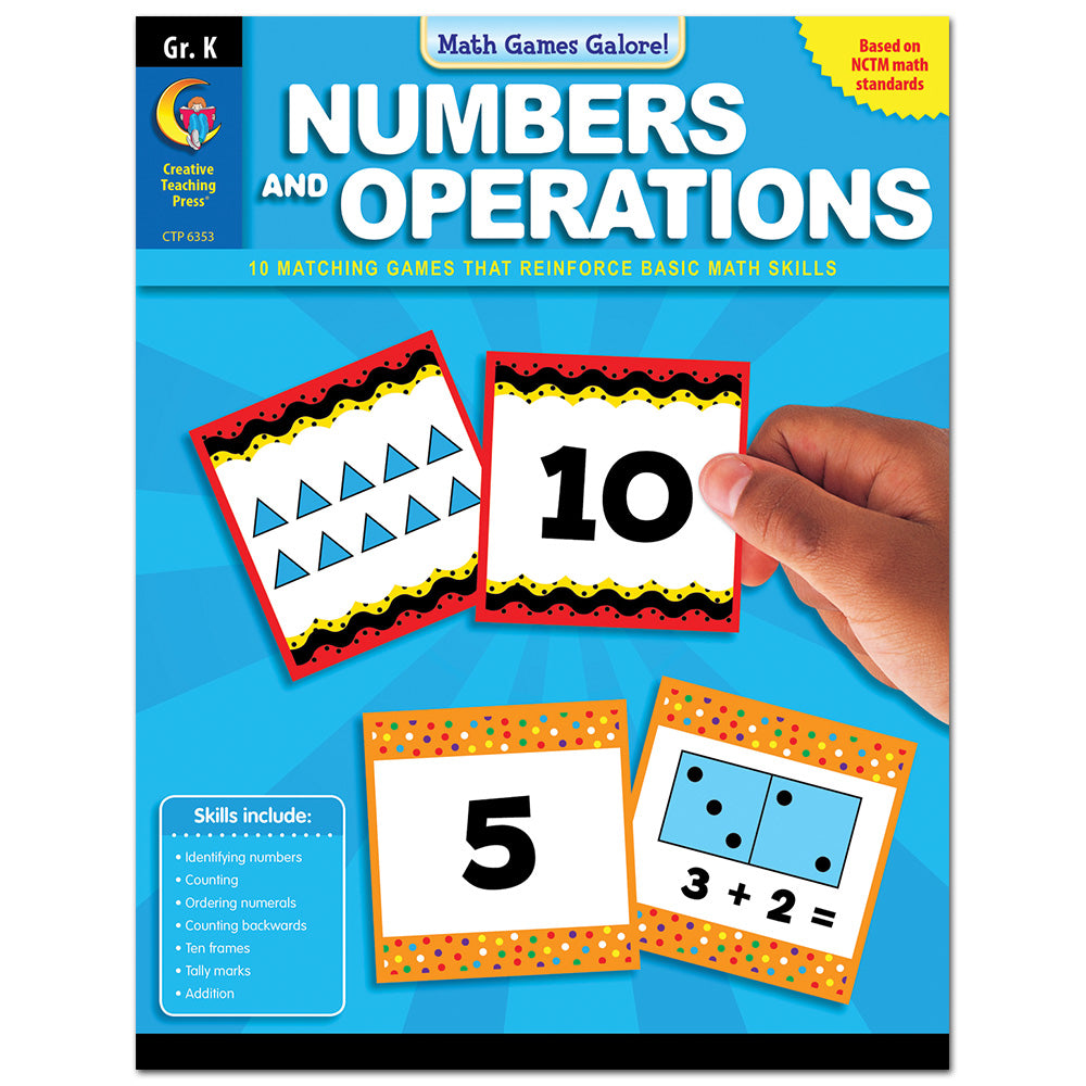 Math Games Galore: Numbers and Operations, Gr. K