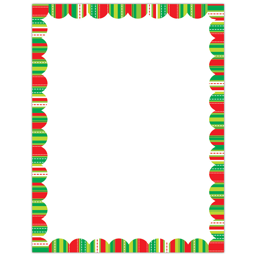 Holiday Stripes and Stitches Printer Paper
