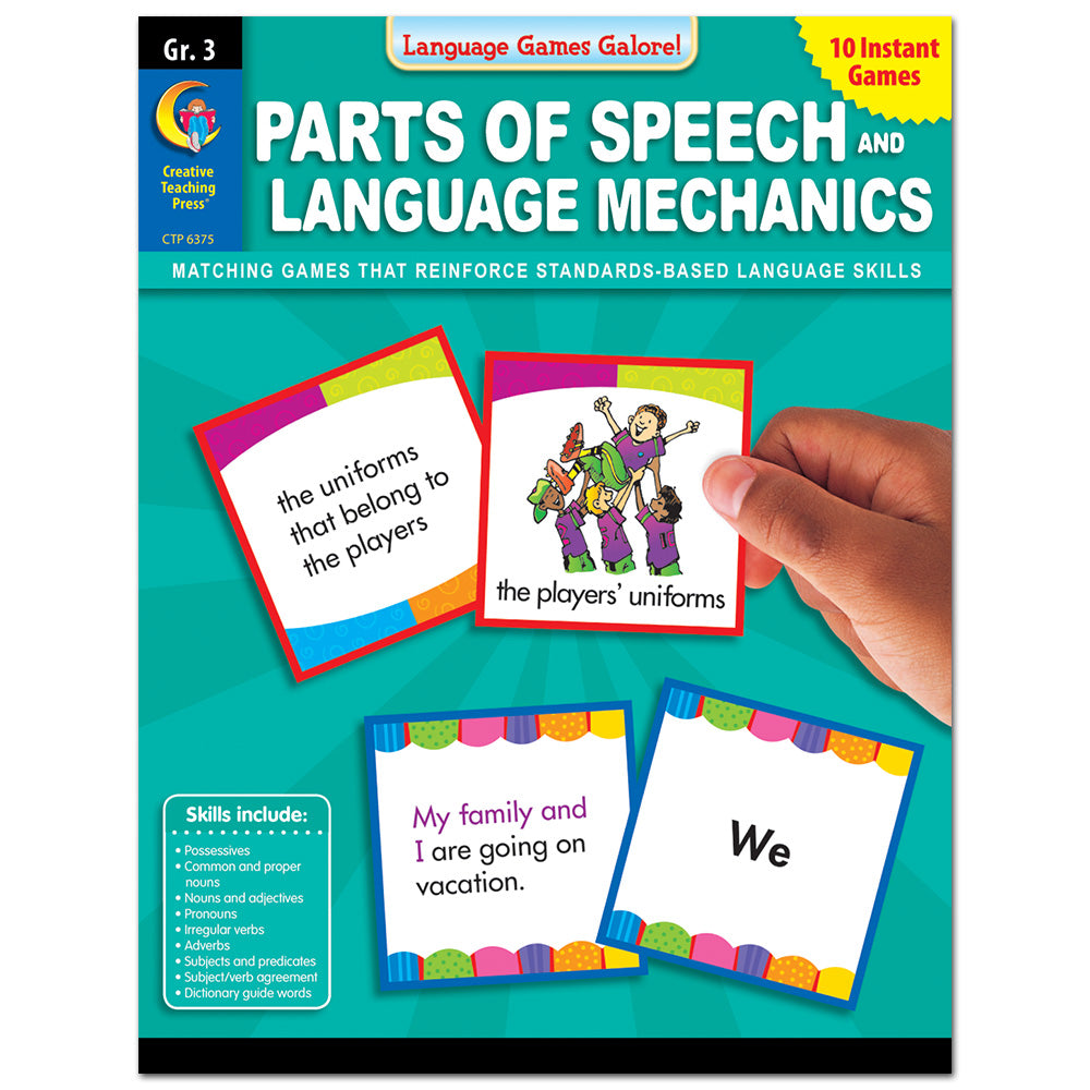 Language Games Galore: Parts of Speech and Language Mechanics, Gr. 3